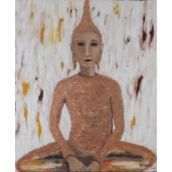 Cuadro Budha sentado Altisent 60x50