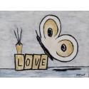 Cuadro mariposa Love Altisent 30x40