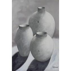 Tres jarrones 90x60