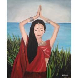 Mujer india 60x50