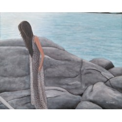 Mujer en Formentera 65x80