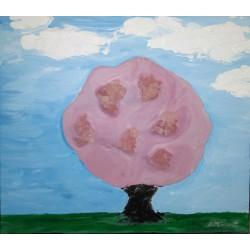 Cuadro arbol frutal 35x40