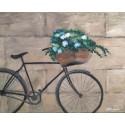 Cuadro Bicicleta Vintage con flores Altisent 40x50