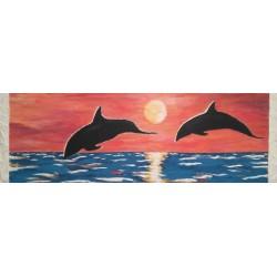 Delfin en el mar 50x150