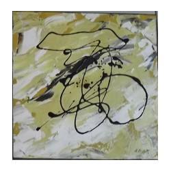 Abstracto amarillo raya negra