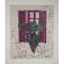 Cuadro ventana flores Altisent 50x40