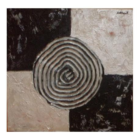 Abstracto espiral blanco negro