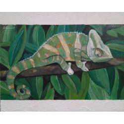 Cuadro camaleón Altisent 40x50