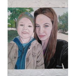 Cuadro retrato por encargo Altisent 50x40