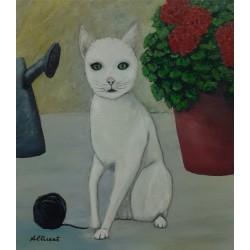 Cuadro gato  Altisent 40x35