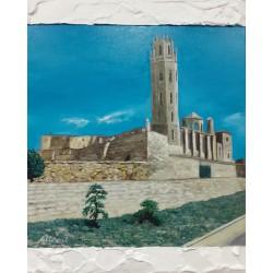 Cuadro Castillo la Seu Vella Altisent 50x40