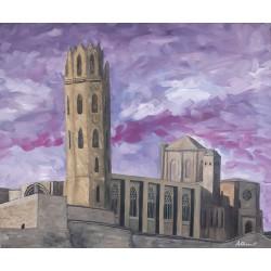 Cuadro Castillo la Seu Vella Altisent 50x60