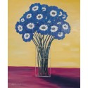 Cuadros Jarrón cristal con flores azules Altisent 60x50