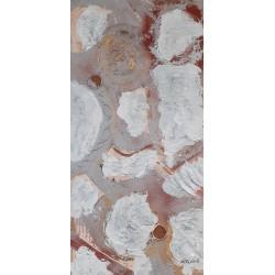 Cuadro Manchas colatge plata  Altisent 80x40