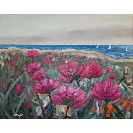 Flores en la playa