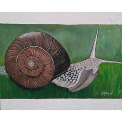 Cuadro Caracol Altisent 40x50 marco relieve blanco