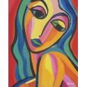 Cuadro cara mujer multicolor Altisent 60x50